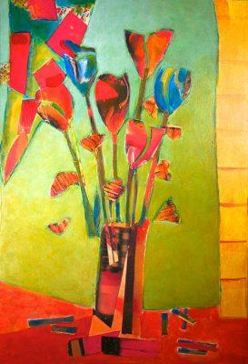 Chamberlain Bouquet - 25 x 19 (SOLD), Jon Taner, Mixed Media Artist