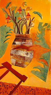 Cracked  -  17 x 9, Jon Taner, Mixed Media Artist