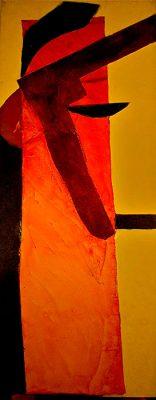 Dancing Diver  -  65 x 26, Jon Taner, Mixed Media Artist