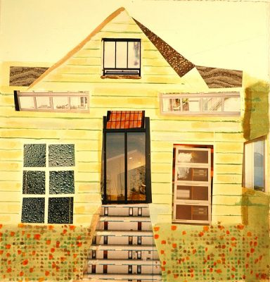 House I Saw  -  14 x 14  (SOLD), Jon Taner, Mixed Media Artist