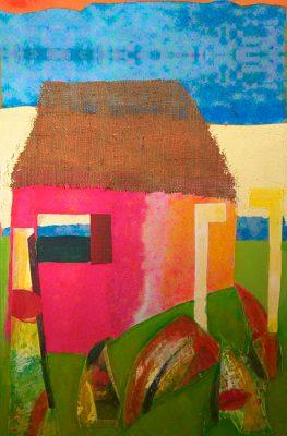 Mobiliere Chambre la Journee   -  30 x 20  (SOLD), Jon Taner, Mixed Media Artist
