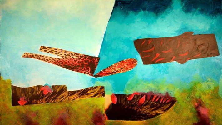 Octopus' Garden  -  30 x 52, Jon Taner, Mixed Media Artist