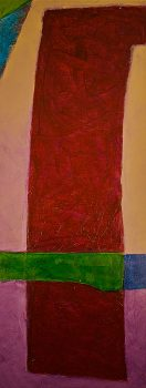 Purple Sluice  -  65 x 26 (SOLD), Jon Taner, Mixed Media Artist