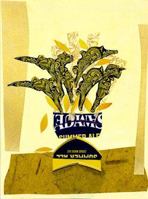 Sam Adams Summer Ale - 16x12 -Available as Print, Jon Taner, Mixed Media Artist