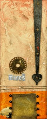 Tires, 24x10, Jon Taner, Mixed Media Artist